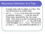 recursive definition of a tree