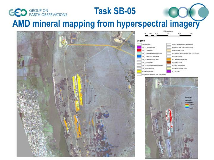 AMD mineral mapping from hyperspectral imagery