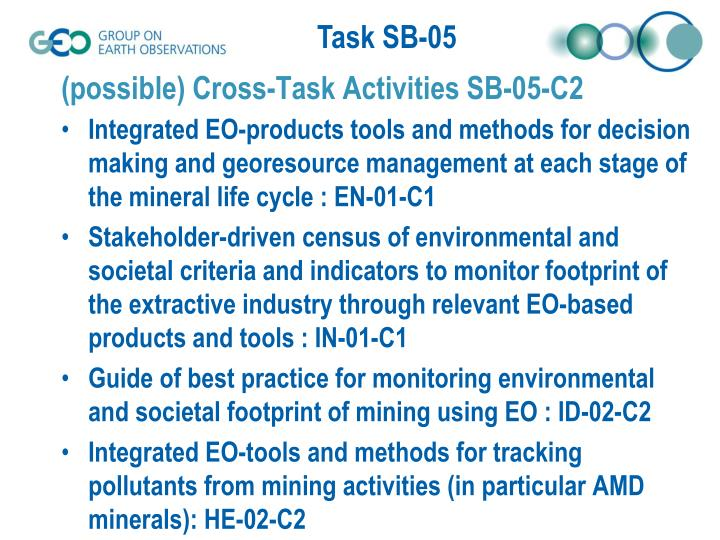 (possible) Cross-Task Activities SB-05-C2