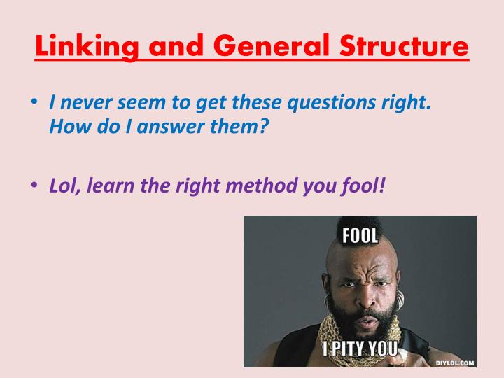 Linking and General Structure
