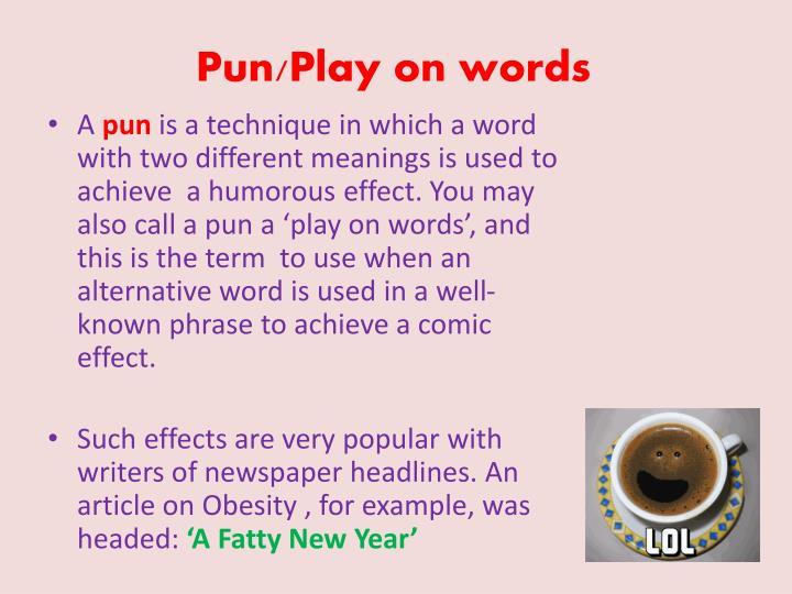 Pun/Play on words