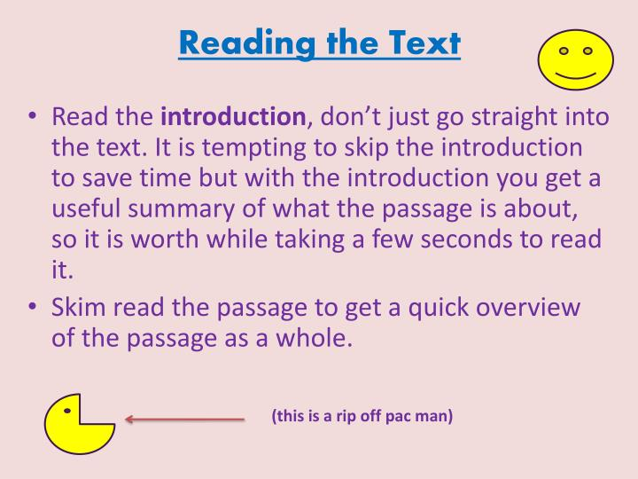 Reading the Text