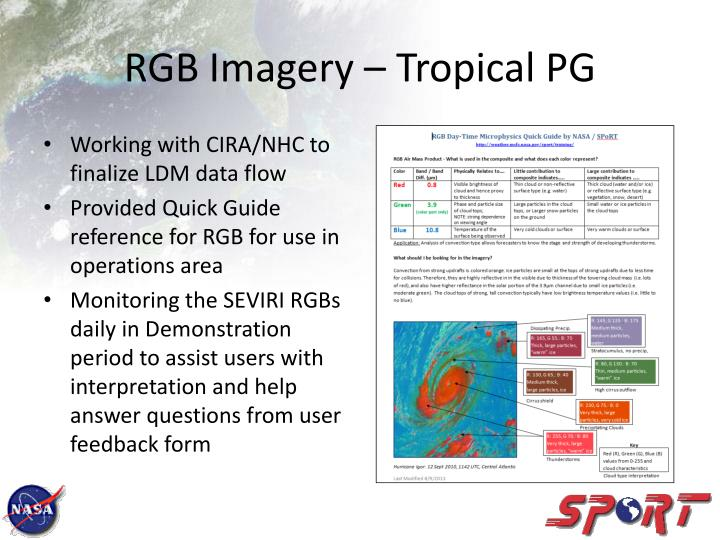 RGB Imagery – Tropical PG