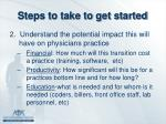 steps to take to get started
