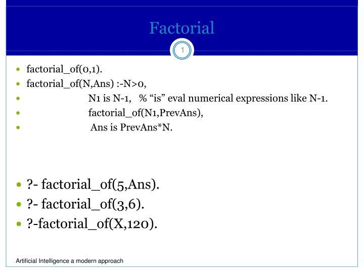 factorial n.