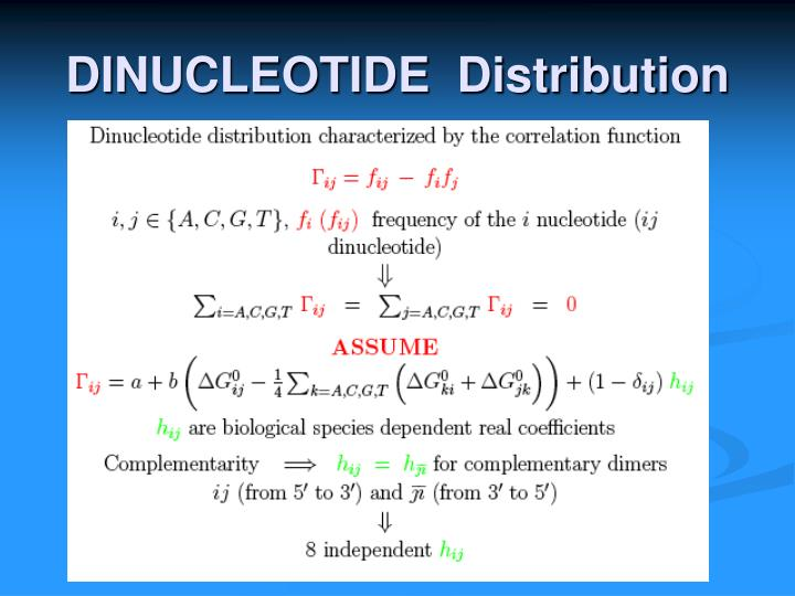 DINUCLEOTIDE  Distribution