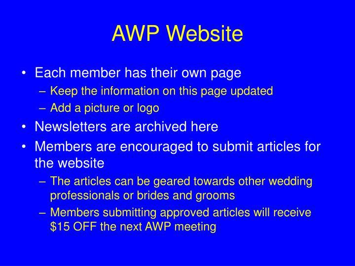 AWP Website