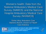 esther hing ambulatory care statistics branch division of health care statistics