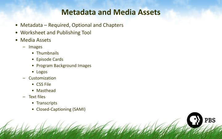 Metadata and Media Assets