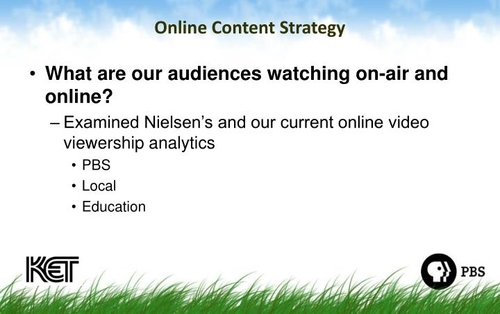 Online Content Strategy