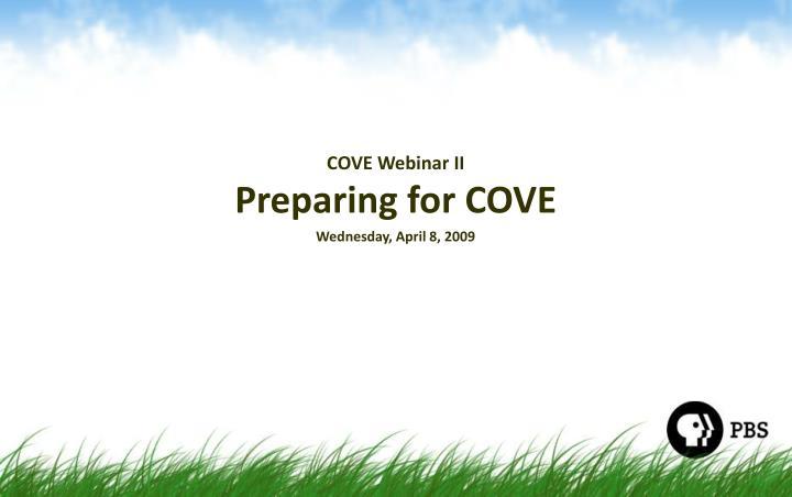 COVE Webinar II