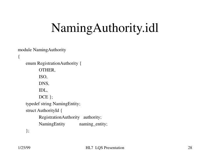 NamingAuthority.idl