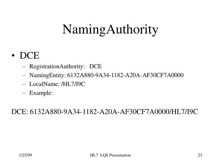 NamingAuthority