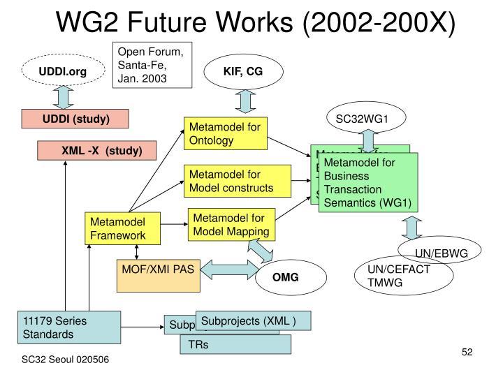 WG2 Future Works (2002-200X)