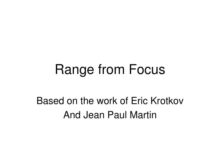 range from focus