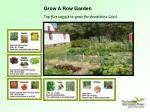 grow a row garden top five veggie to grow for donations 2010