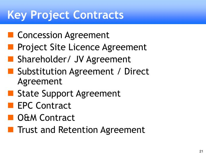 Key Project Contracts