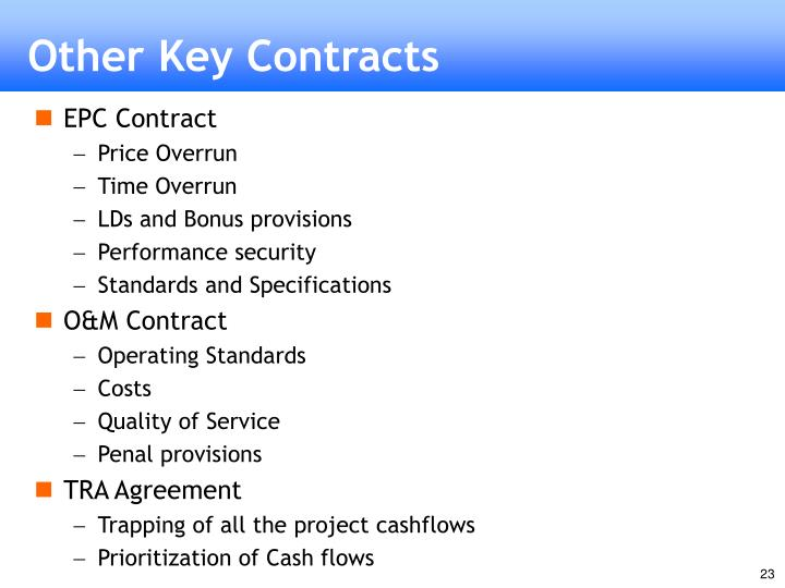 Other Key Contracts