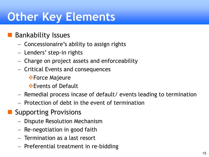 Other Key Elements