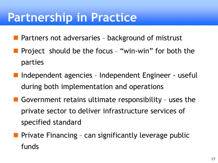 Partnership in Practice