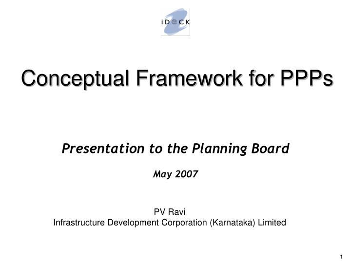 Presentation to the planning board may 2007