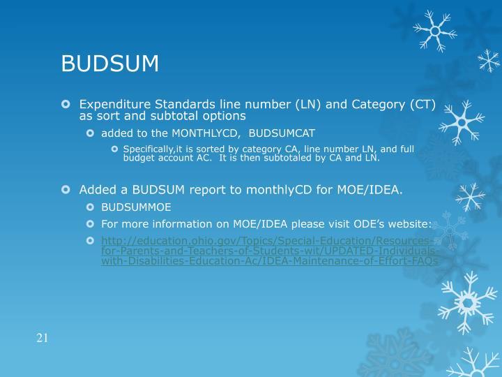 BUDSUM
