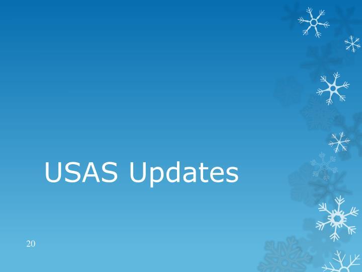 USAS Updates