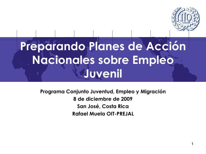 Preparando planes de acci n nacionales sobre empleo juvenil
