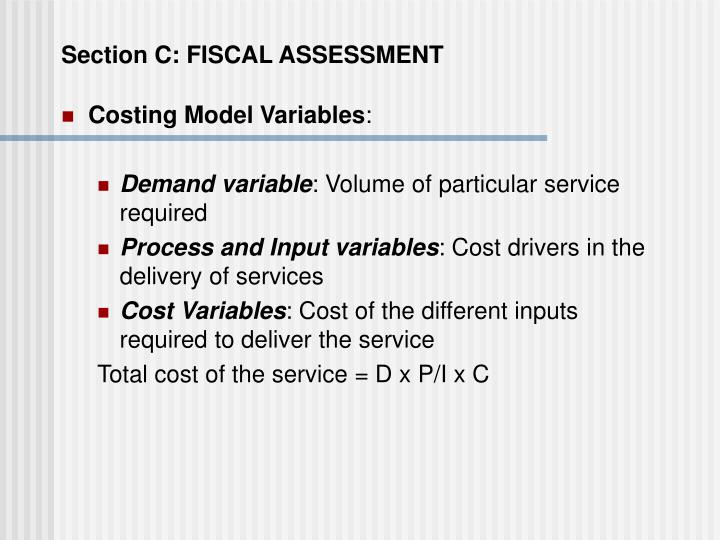 Section C: FISCAL ASSESSMENT