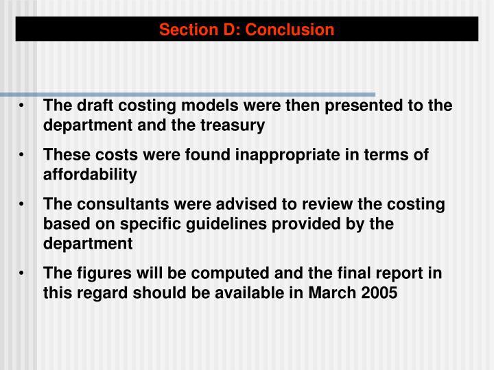 Section D: Conclusion