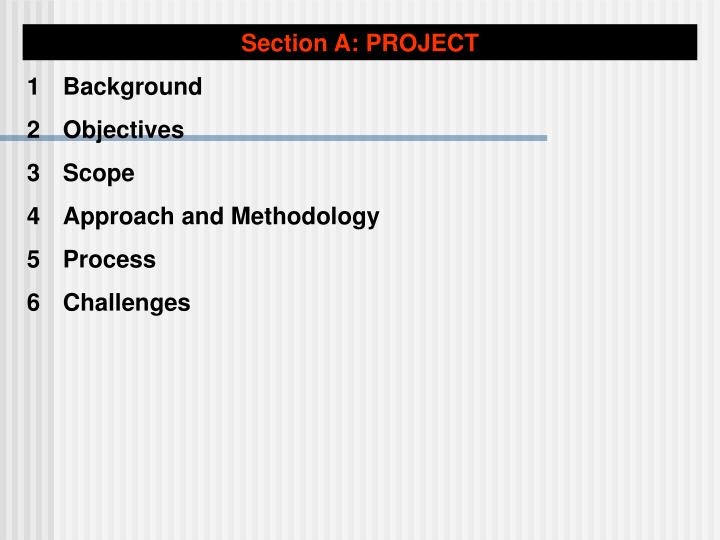 Section A: PROJECT