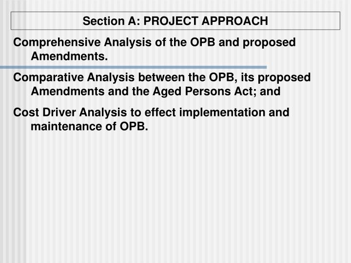 Section A: PROJECT APPROACH