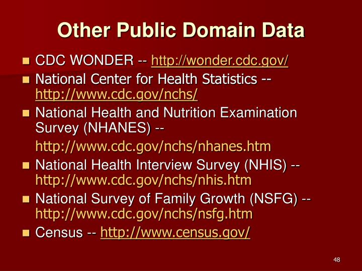 Other Public Domain Data