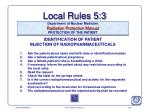 local rules 5 3