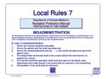 local rules 7