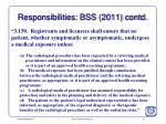 responsibilities bss 2011 contd
