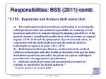 responsibilities bss 2011 contd1