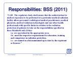 responsibilities bss 2011