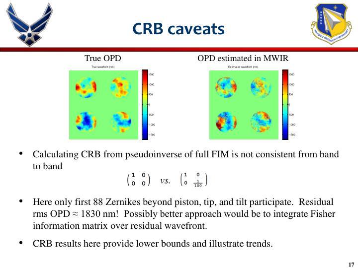 CRB caveats