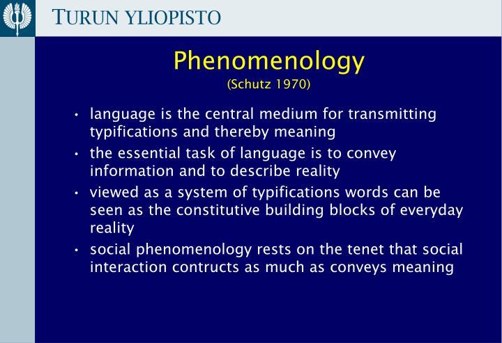 phenomenology schutz 1970 n.