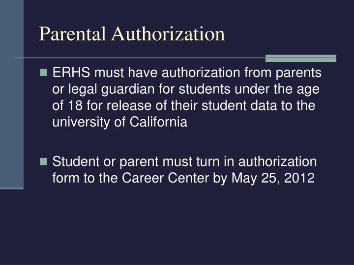 Parental Authorization