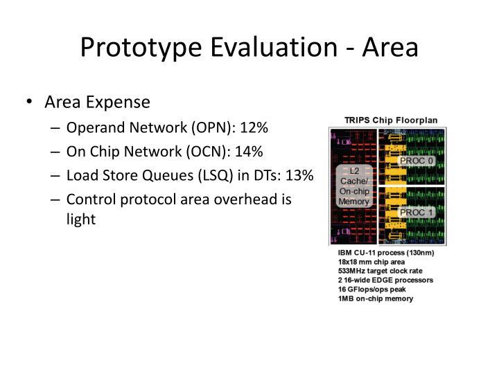 Prototype Evaluation - Area