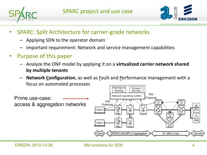 SPARC project and use case