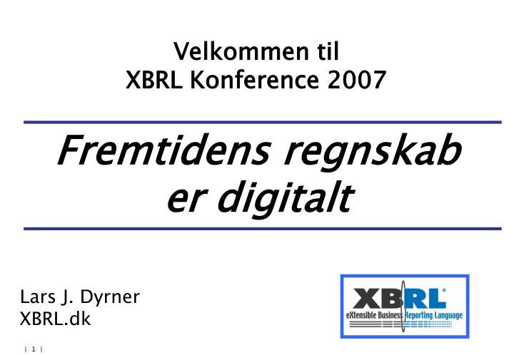 velkommen til xbrl konference 2007 n.