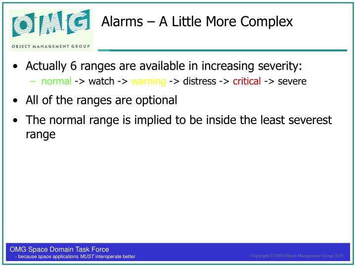 Alarms – A Little More Complex