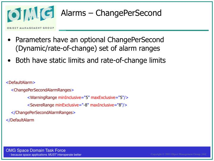 Alarms – ChangePerSecond