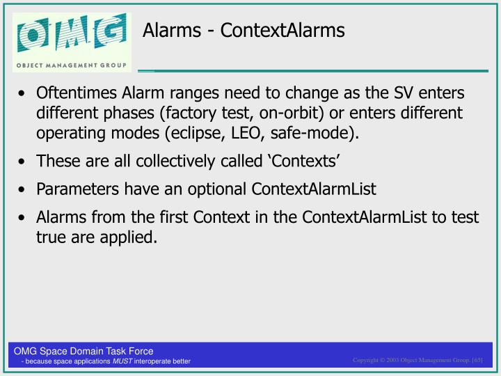 Alarms - ContextAlarms