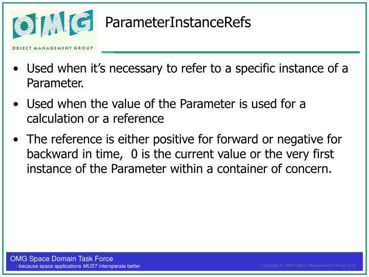 ParameterInstanceRefs