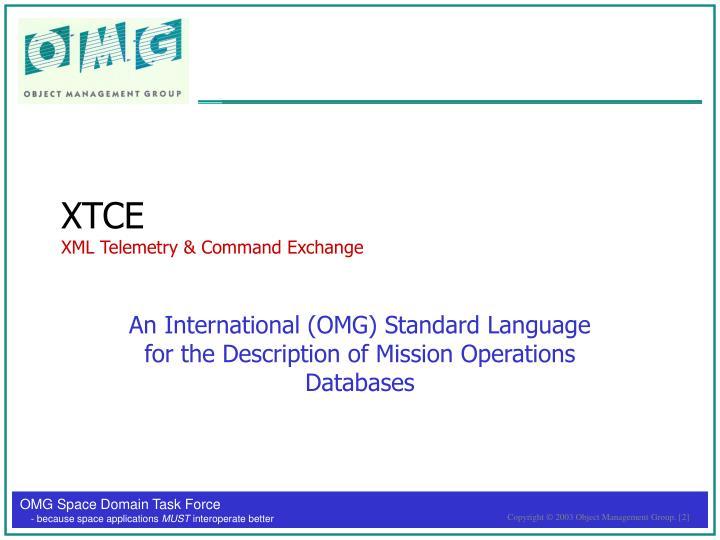 Xtce xml telemetry command exchange
