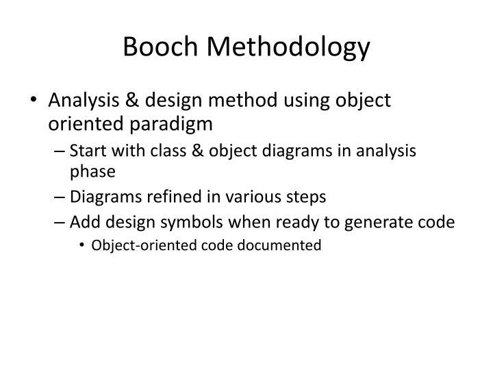 Booch Methodology